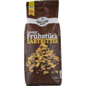 PAHULJICE KNUSPER TAMNA ČOKO BEZ GLUTEN BAUCK 300 g muesli čokolada kukuruz riža amarant heljda zdravi doručak bio bio tvornica zdrave hrane