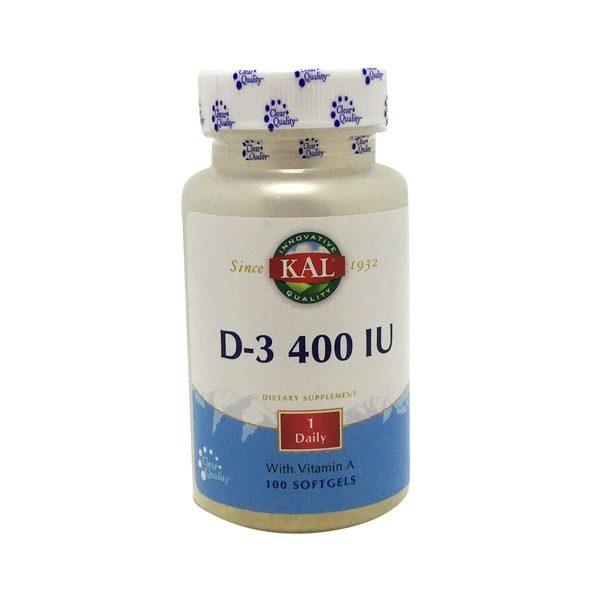 D-3 400 IU 100 ct kal