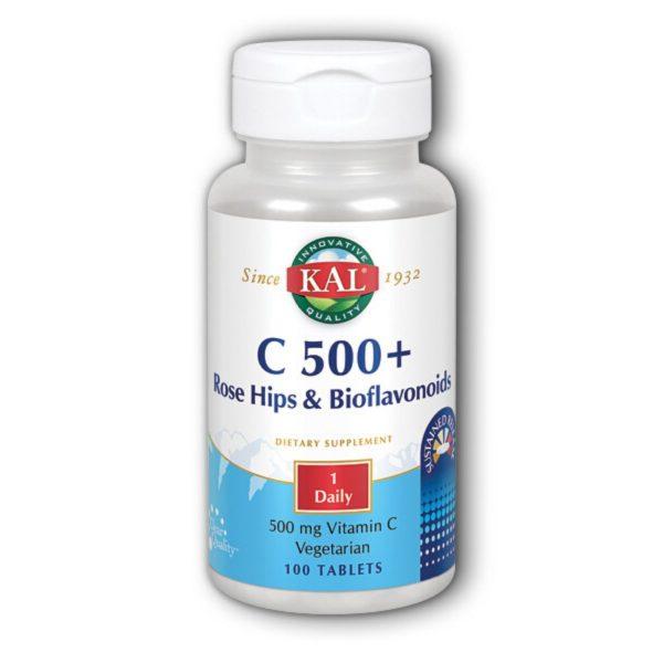 VITAMIN C 500 S.R. + ROSE HIPS & BIO 100 ct KAL