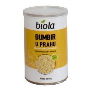 ĐUMBIR U PRAHU BIO 150 g BIOLA začin kurkuma cimet tvornica nutrigold bio organski