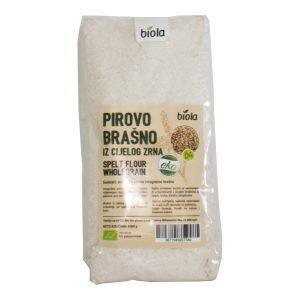 PIROVO BRAŠNO IZ CIJELOG ZRNA 1 kg BIOLA integralno domaće hrvatsko zdravo bio organski tvornica nutrigold jazo repro eko