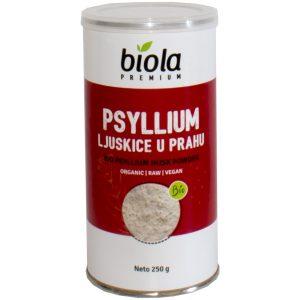 PSYLLIUM LJUSKICE U PRAHU 250 g BIOLA bio tvornica nutrigold zdravo detox crijeva regulacija kolesterola zatvor probava stolica biobio tvornica zdrave hrane