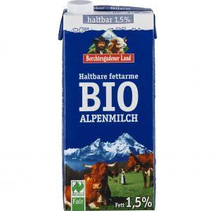 Alpsko mlijeko 1,5% Berchtesgadener Land 1 l bio zdravo domaće