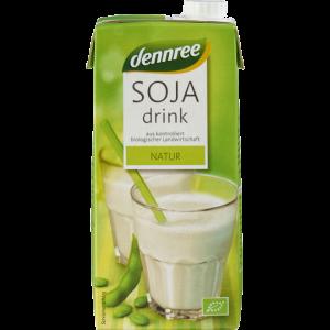 NAPITAK OD SOJE NATURAL DENNREE 1 l cojino mlijeko bez aditiva bio tvornica zdrave