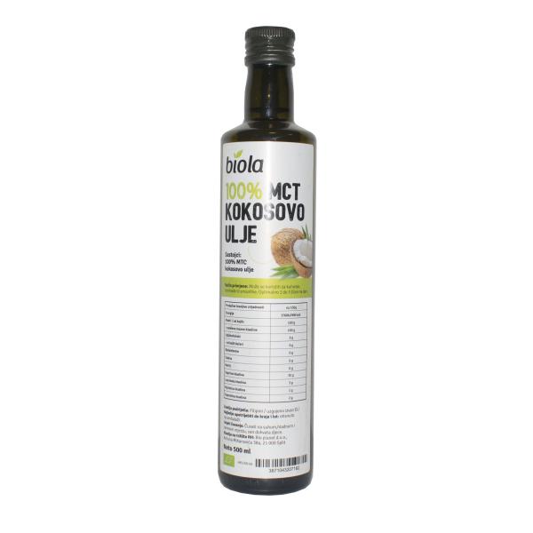 kokosovo ulje mct 500 ml biola bio zdravo