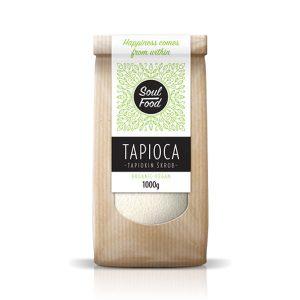 Opis proizvoda Tapioka brašno Soul Food pogodno je za pečenje i kuhanje, a dobro je i kao dodatak umacima i varivima. Za koga je proizvod namijenjen? Za sve koji trebaju zdravo bezglutensko brašno Za sve koji su svjesni važnosti zdrave i uravnotežene prehrane Za vegane i vegetarijance Sastojci Tapioka* *=organski certificirani sastojci Tragovi glutena su mogući zbog pakiranja u postrojenjima gdje se pakiraju i glutenska brašna. Primjena Za zgušnjavanje umaka i variva! Jedan je od najkorisnijih škrobova u kuhinji, jer osim što nema dodanog okusa niti boje, njime se naročito dobro mogu pripremati jela bez grudica. Velika prednost mu je i ta, što se niti uslijed brzog hlađenja iz kuhanog jela ne izdvajaju naslage, tako da dobro podnosi procese hlađenja. Za pripremanje slatkiša! Niti u pripremanju slatkiša tapioka brašno nije za zanemariti: s kokosovim mlijekom može se od njega napraviti zdravi, neutralni puding, a da bi postao još finiji, dovoljno je dodati samo malo voća. Za dobivanje hrskave korice prilikom izrade kruha! Treća bitna karakteristika mu je da jela pripremljena njime imaju hrskavu koru, stoga ga prvenstveno preporučujemo za pripremu kruha i peciva. Miješajući ga s raznim brašnima od sjemenki, dobiva se prava, spužvasta konzistencija kruha, a gotovi pekarski proizvod će biti iznimno zdrav.