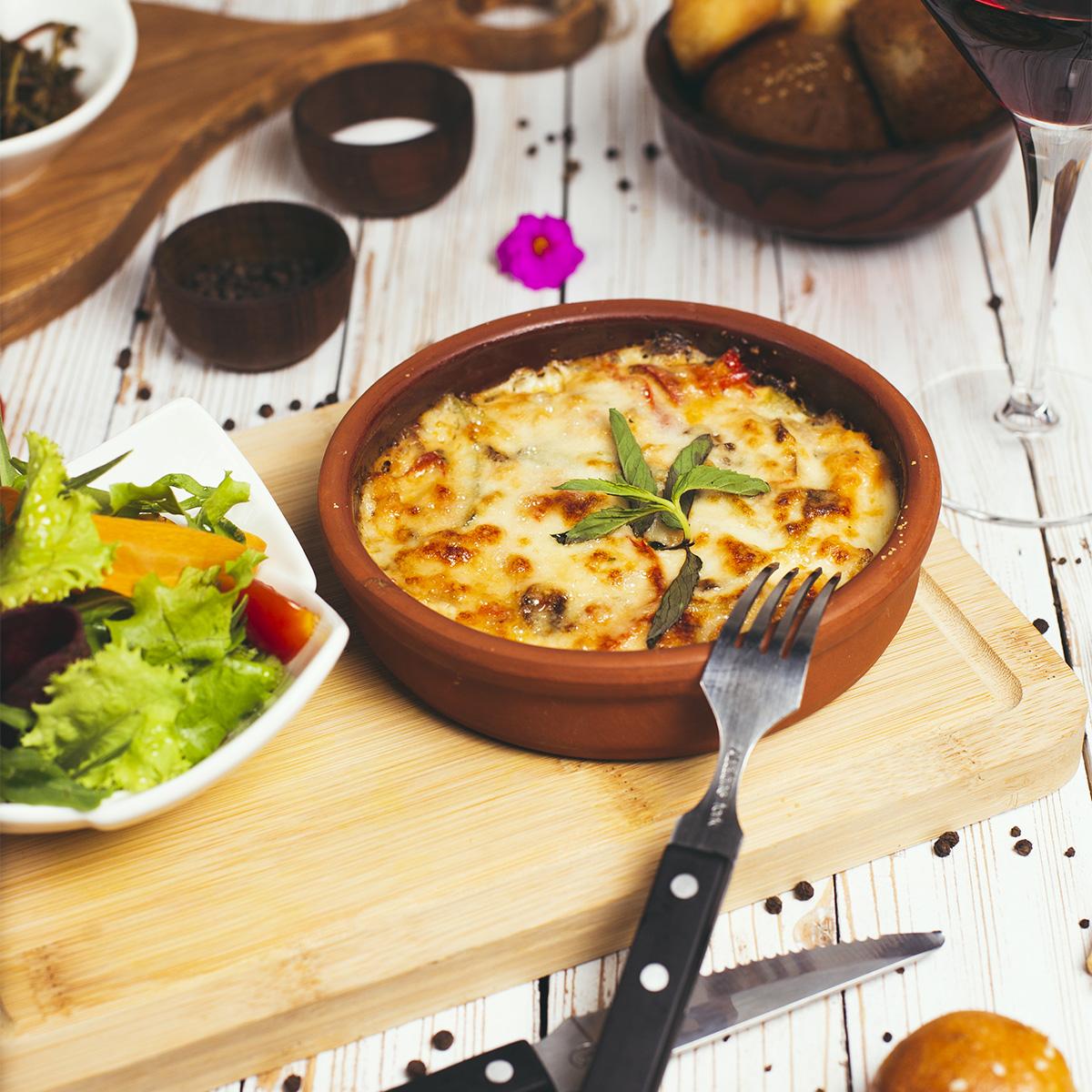 Lasagna, or casserole, or a meat pie.